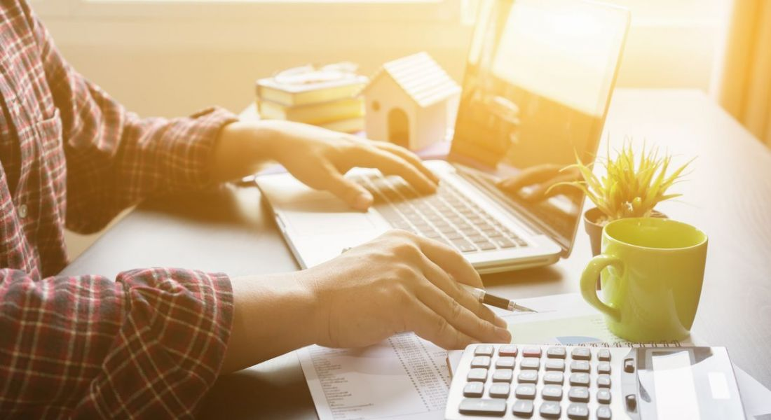 Fintech industry on a laptop