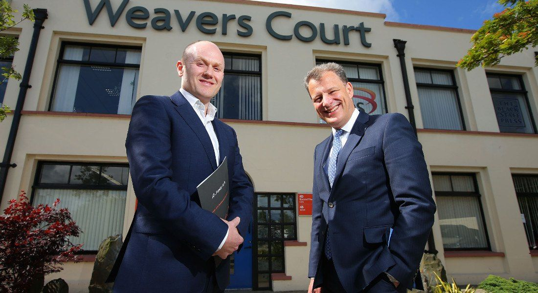 Darren Burrows, Funds-Axis, and Jeremy Fitch, Invest NI. Image: Invest NI