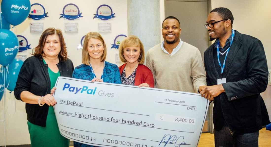 PayPal Gives cheque ceremony