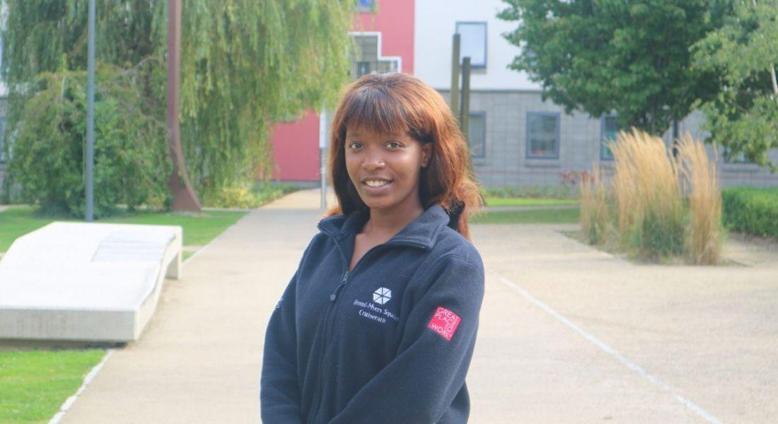 Elizabeth Madojutimi, intern at Bristol-Myers Squibb