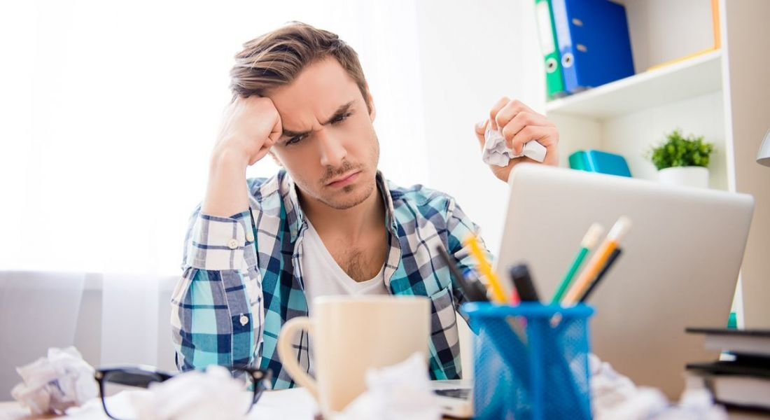 Frustrated HR managing trying to write job advert