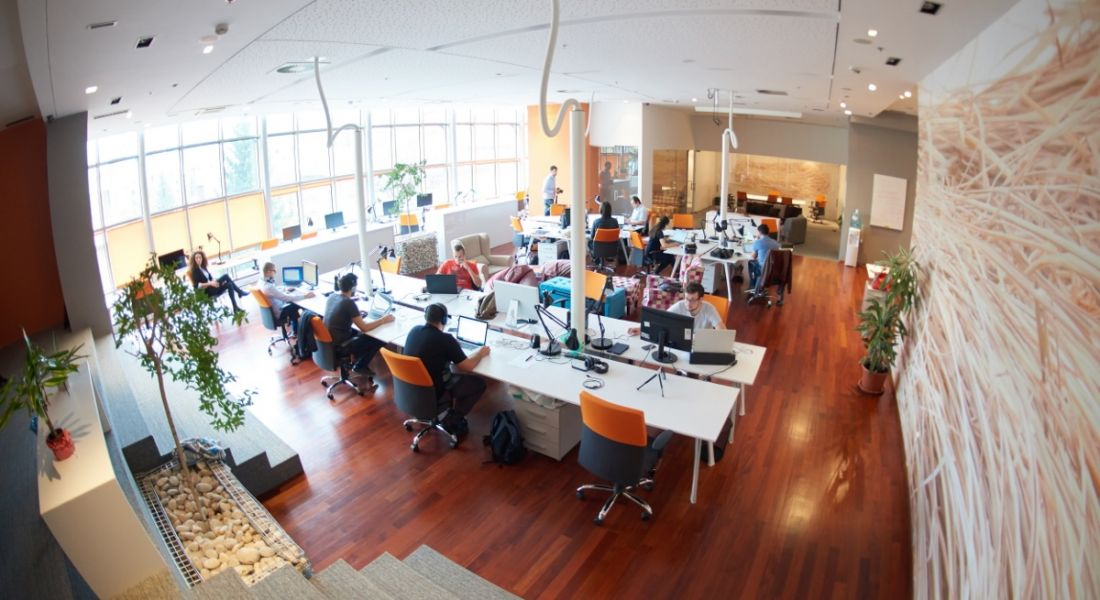 Engineers: tech company office interior
