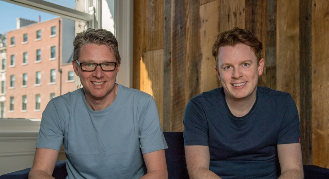 Clive Foley and Charles Dowd, co-founders of Plynk. Image: Plynk