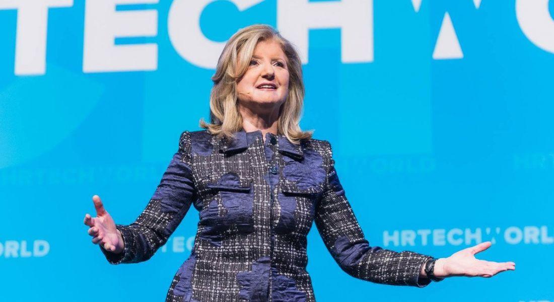 Arianna Huffington speaking at HR Tech World