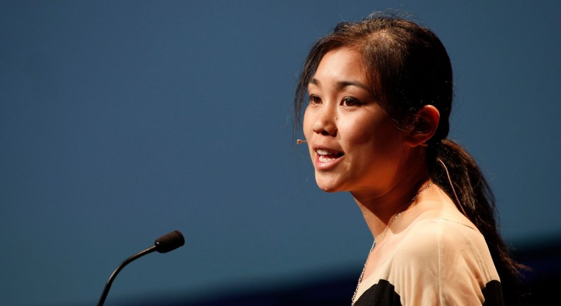 Tracy Chou speaking at Inspirefest 2017. Image: Conor McCabe Photography