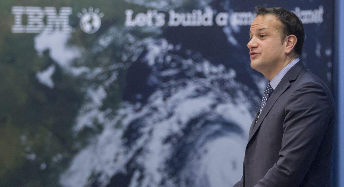 An Taoiseach Leo Varadker IBM