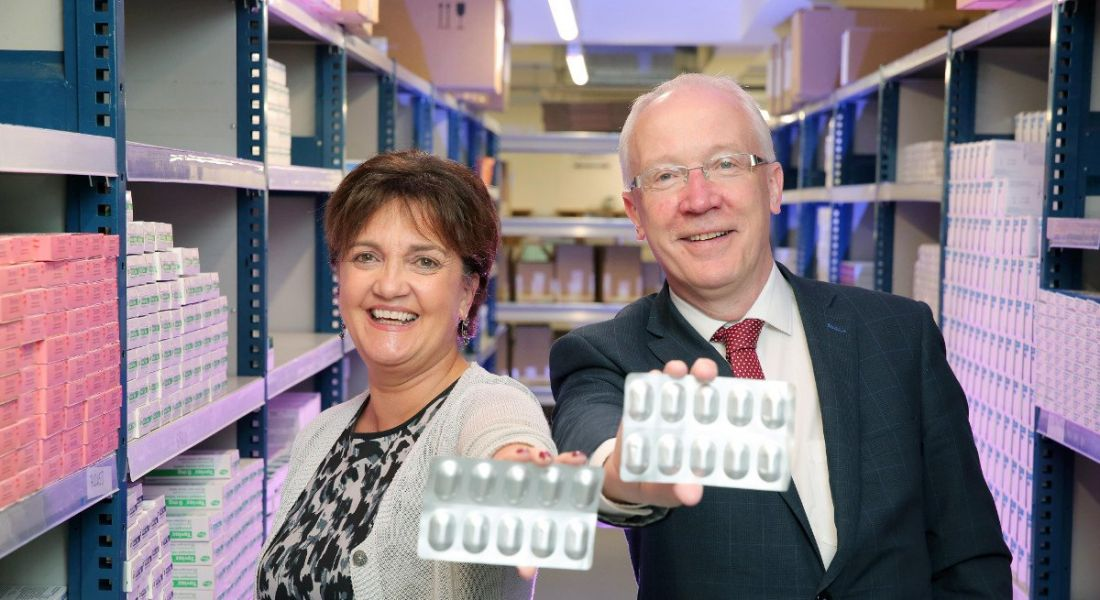 From left: Grainne McVeigh, director of life sciences and scaling, Invest NI; and Laurence O'Kane, co-owner, iMed. Image: Invest NI