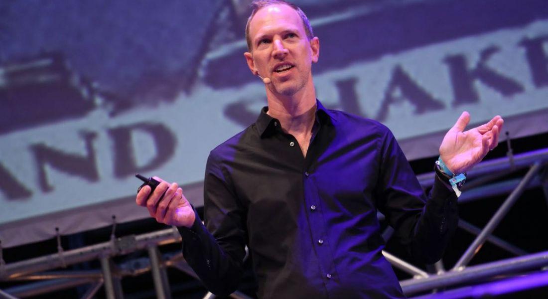 Tim Leberecht speaking at Inspirefest 2018.