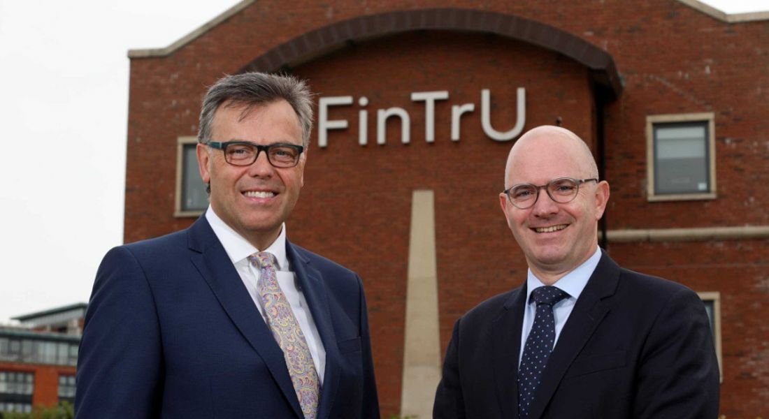 From left: Alastair Hamilton, CEO of Invest NI and Darragh McCarthy, CEO of FinTru. Image: Invest NI.