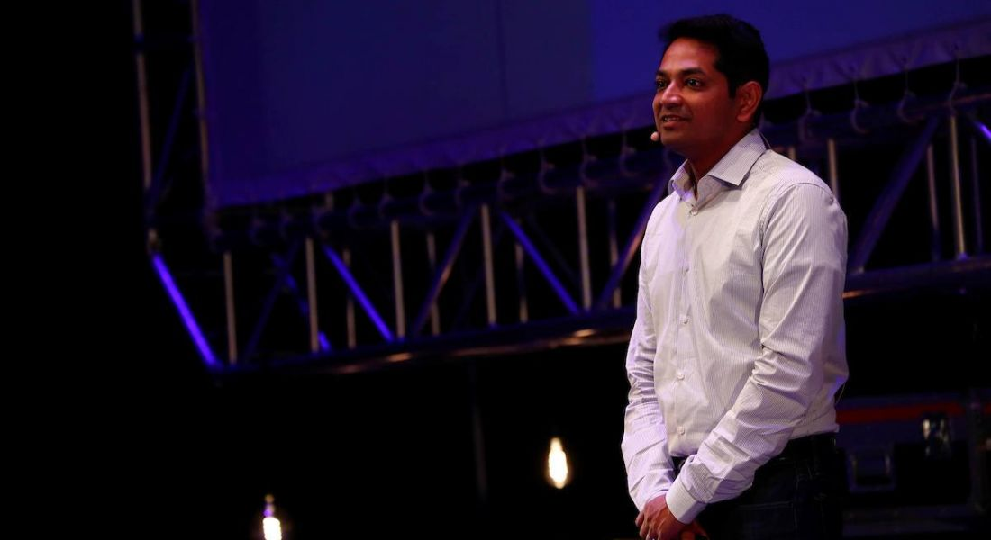 Rajeev Behera, founder and CEO of Reflektive speaking at Inspirefest 2018