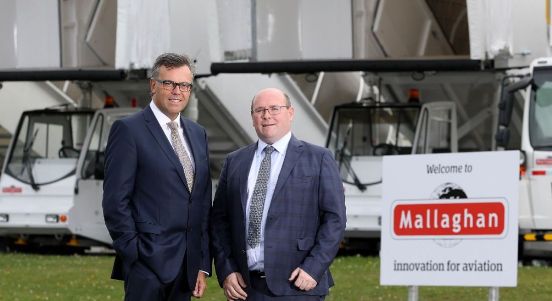From left: Alastair Hamilton, CEO, Invest NI and Ronan Mallaghan, CEO, Mallaghan Engineering. Image: Press Eye Photography