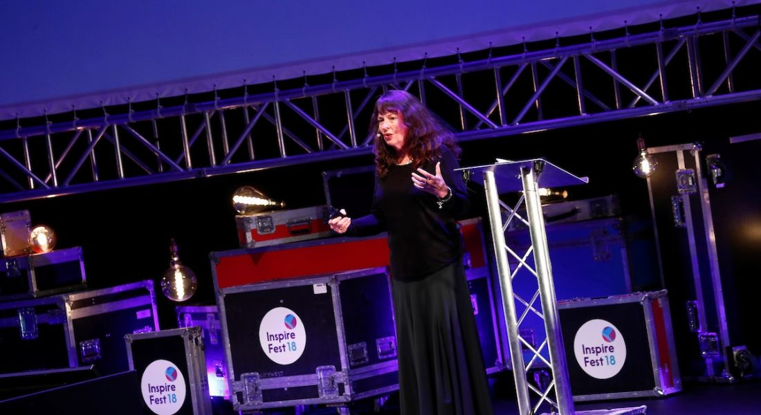 maureen taylor on stage at Inspirefest