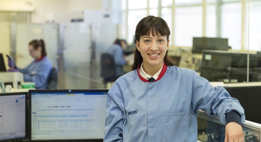 Monica Epifanio, a senior associate QC microbiologist. Image: Amgen