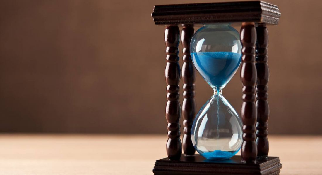 An hourglass showing the slow recruitment process that could cause companies to miss out on top talent.