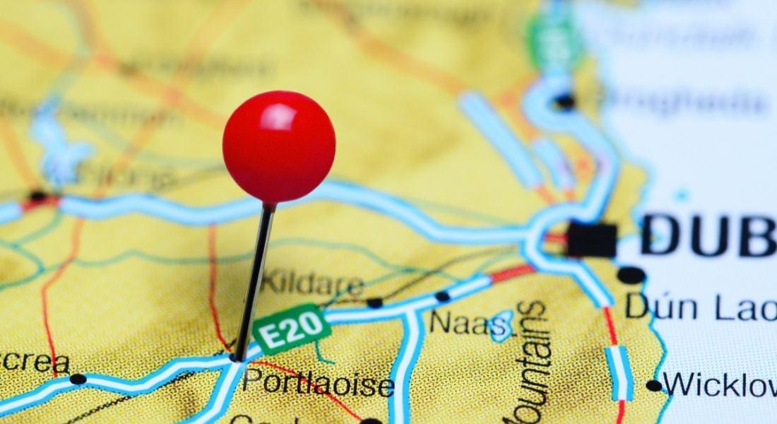 Portlaoise on map of Ireland