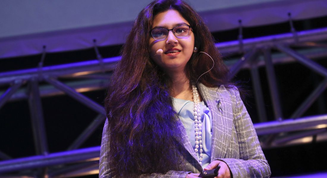 Nikita Naz Siddique, an accounting and finance student at DCU. Image: Conor McCabe photography