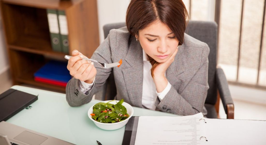 Eating at your desk, one of many bad habits at work