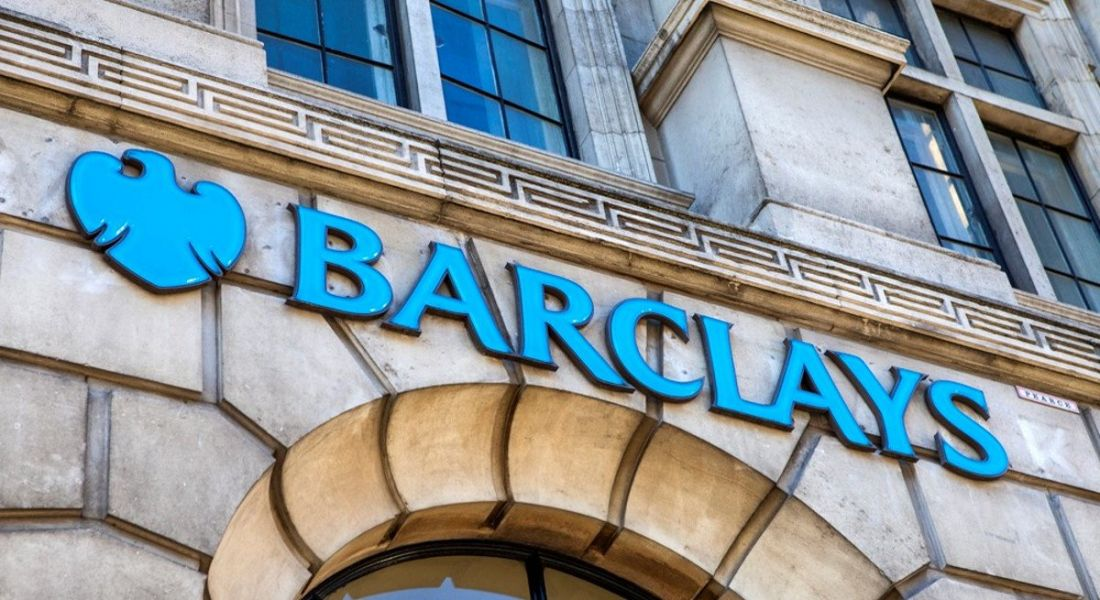 The sign for a Barclays Bank outlet on Fleet Street in London.
