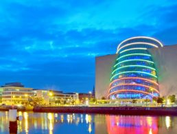 Which industries in Ireland were recruiting heavily in November?
