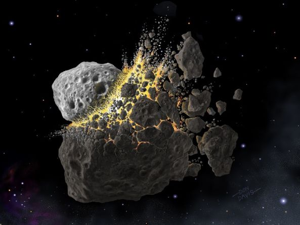 Ancient, cataclysmic asteroid collision could inspire climate geoengineering