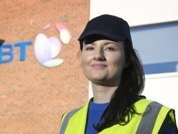 Gillian McMahon, head of HR at BT Ireland, is smiling into the camera.