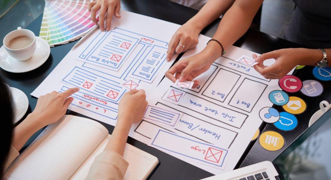 UX design professionals working together.