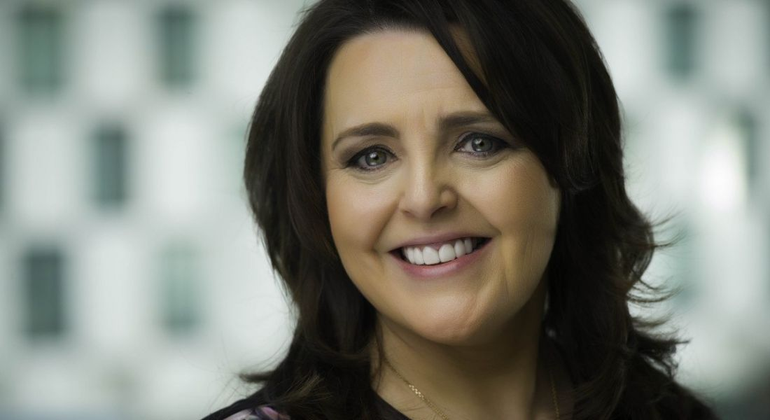 Dr Michelle Cullen of Accenture is smiling into the camera.