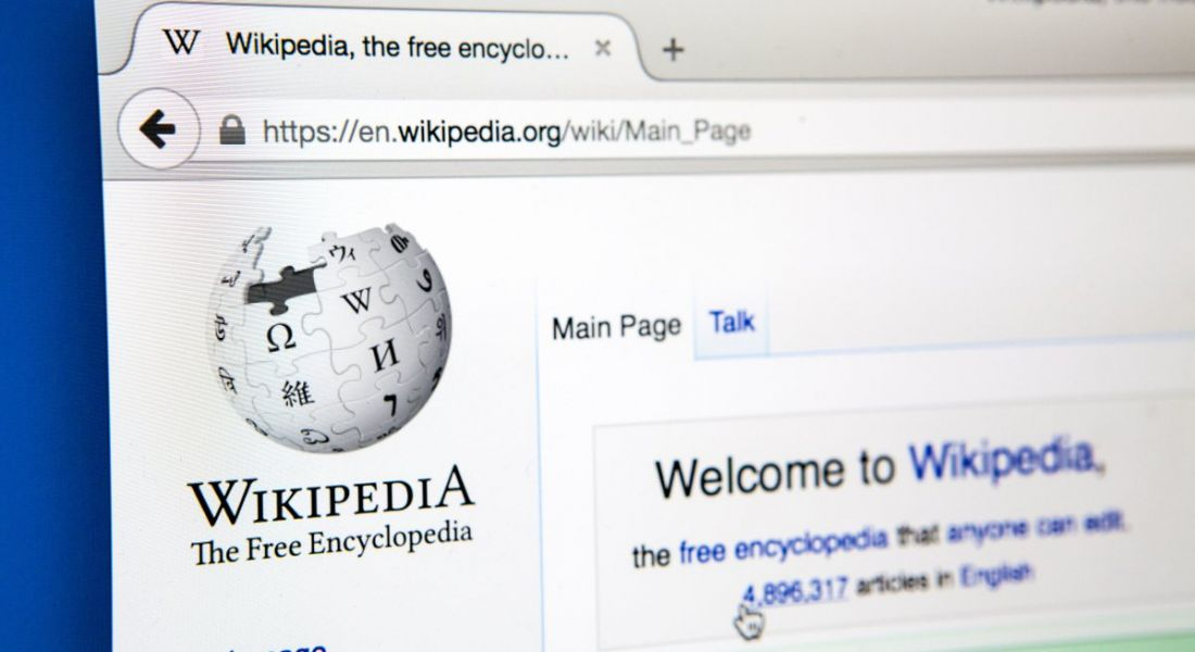 A browser tab is open on the Wikipedia website.
