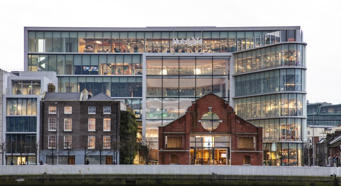 The newly opened HubSpot House office building beside the River Liffey in Dublin.