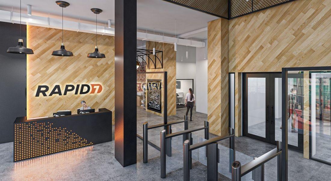 3D render of the new Rapid7 Belfast office.
