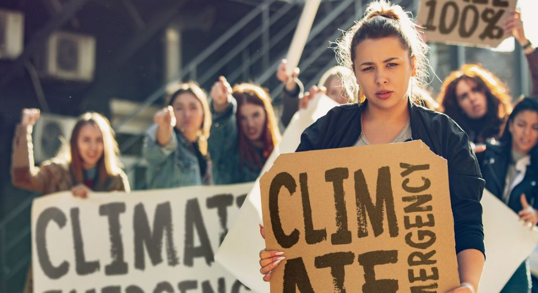 Young people are protesting for action against the climate crisis.
