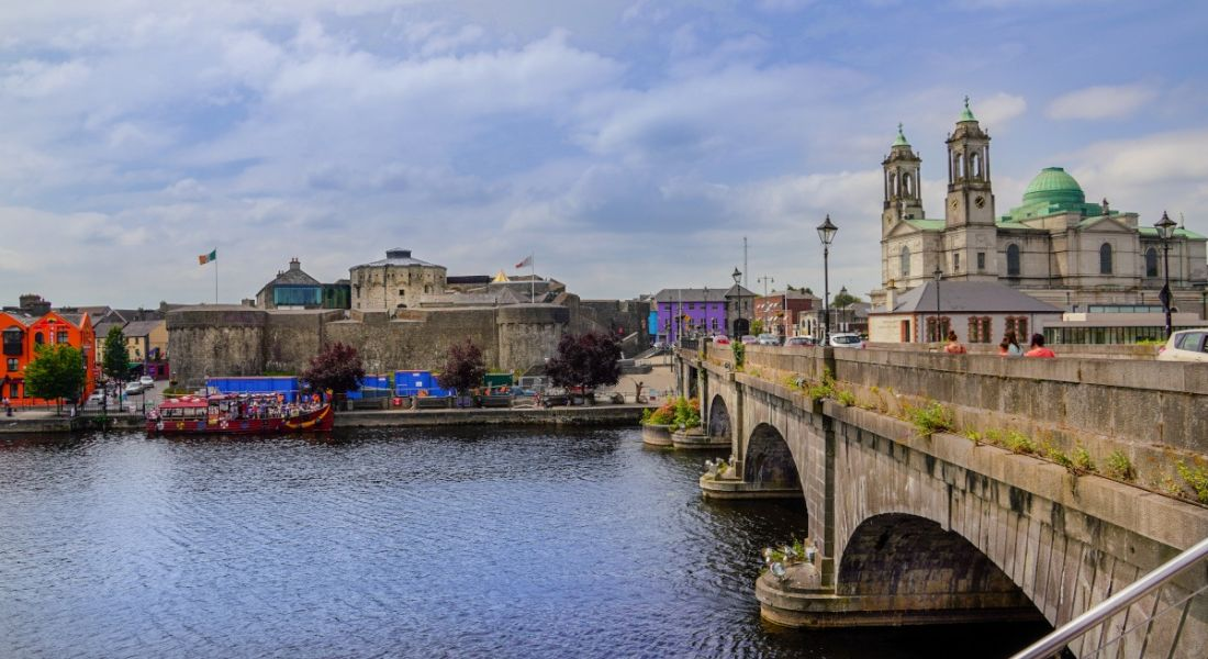 Photo of Athlone city in Co Westmeath on a bright day.