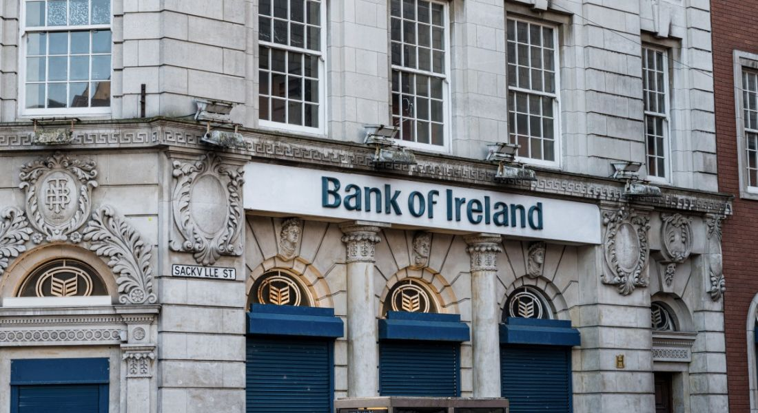 A Bank of Ireland building.