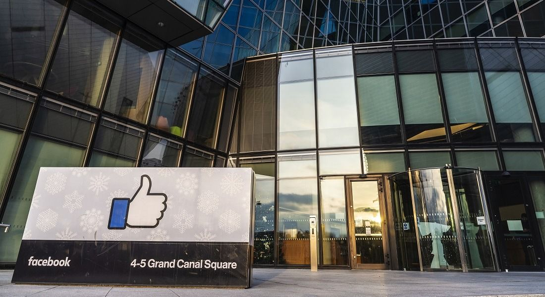 A Facebook sign outside the company's Dublin office.