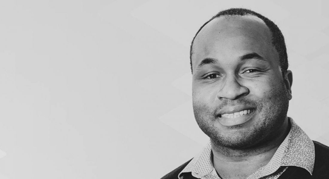 Black and white photo of Jason Dover, VP of product strategy at Kemp.