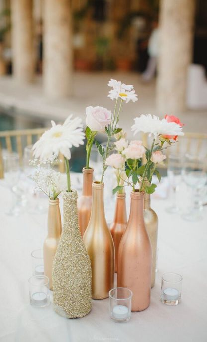 Rose Gold flower vase