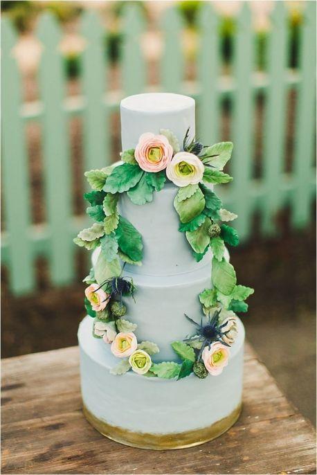 Blue Wedding cake.