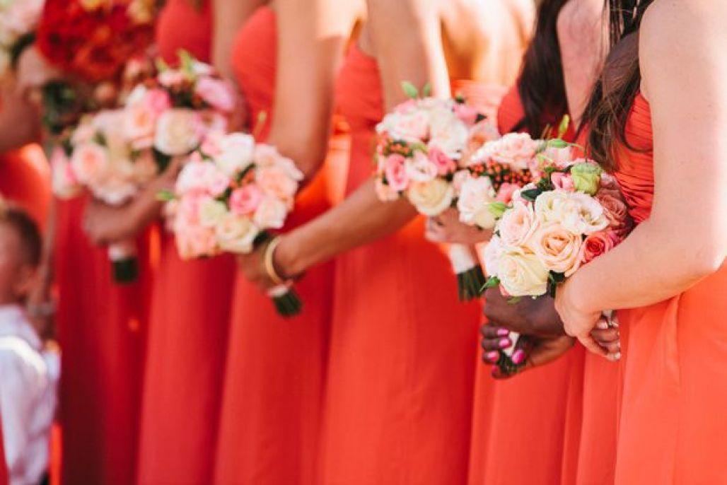 Red Bridesmaids dresses