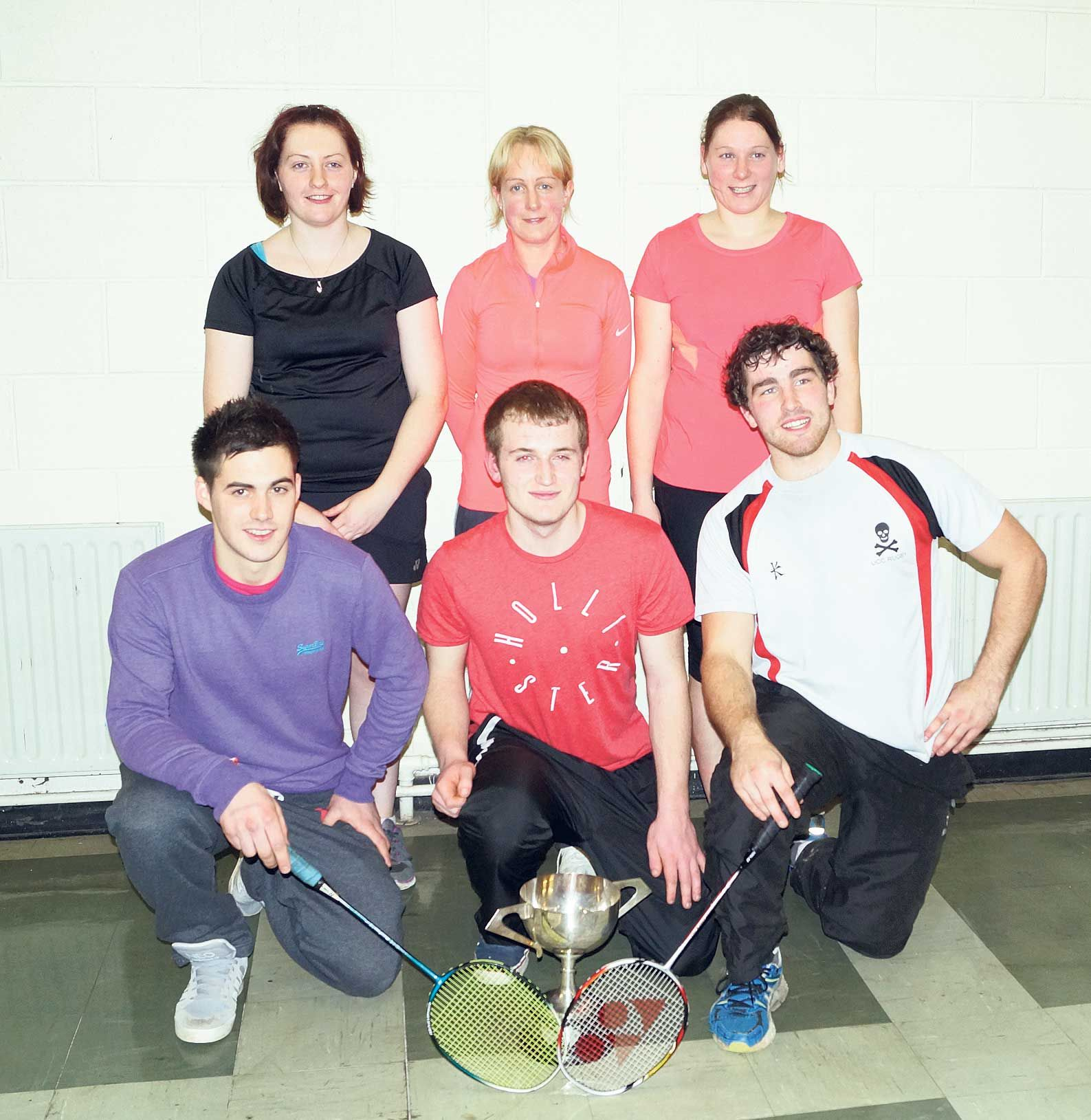 Aces: The St Marys team, back from left, Martina Deane, Catriona Moloney and Susan Kingston (captain); front from left, Nigel Salter, Cian OMahony and Conor Pullen.