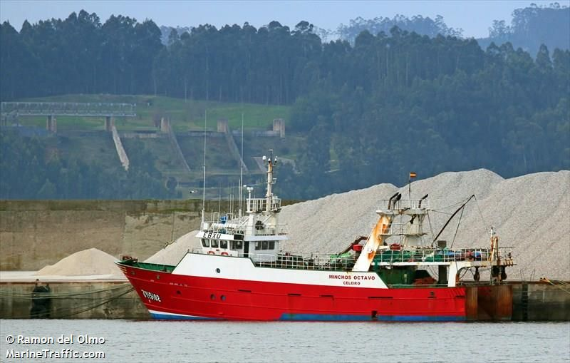 The Minchos Octavo has been brought to Castletownbere. Photo: Marinetraffic.com