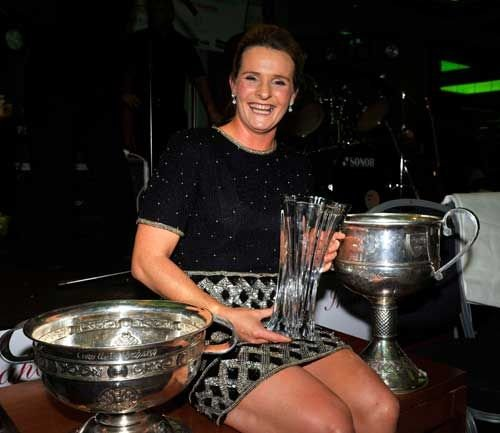Briege Corkery was named Supreme Muskerry GAA/Auld Triangle Sports Star for 2014 at the gala awards presentation dinner at the Oriel House Hotel.