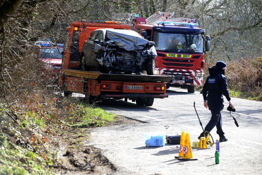 The crash scene at Coolfadda, Bandon. (Photo: Denis Boyle)