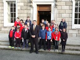 Model School pupils meet Labour TD Michael McCarthy