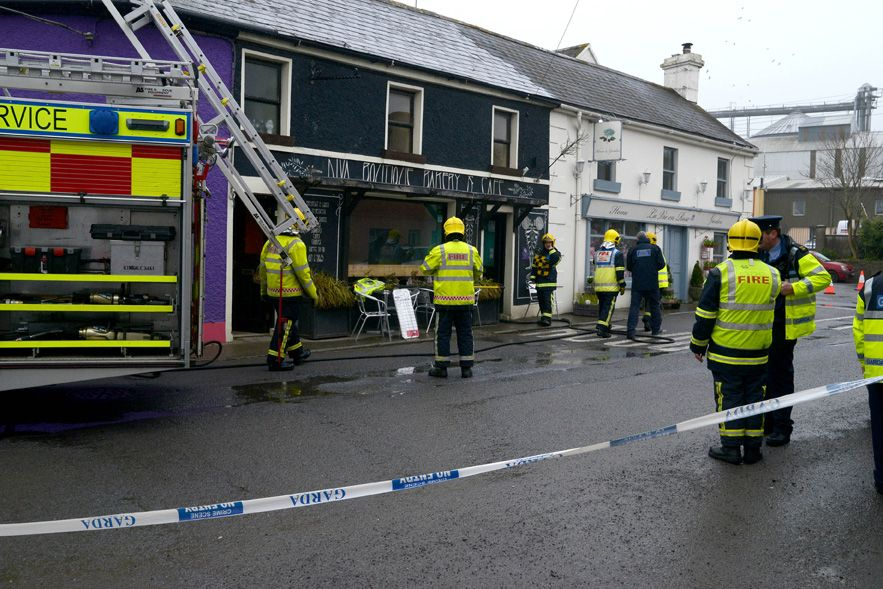 Emergency services pictured at the scene of a gas explosion where two people were injured at Ballinspittle Co Cork (Photo: Provision)