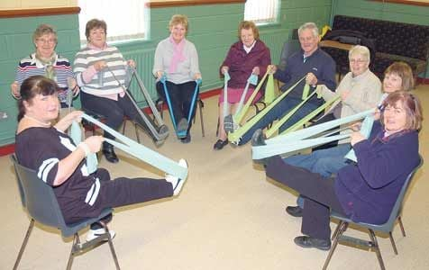 Coachford Active Retirement Association members participating in a recent PALS exercise class at Coachford GAA hall.