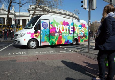 The Vote Yes bus will be in Clonakilty this Saturday