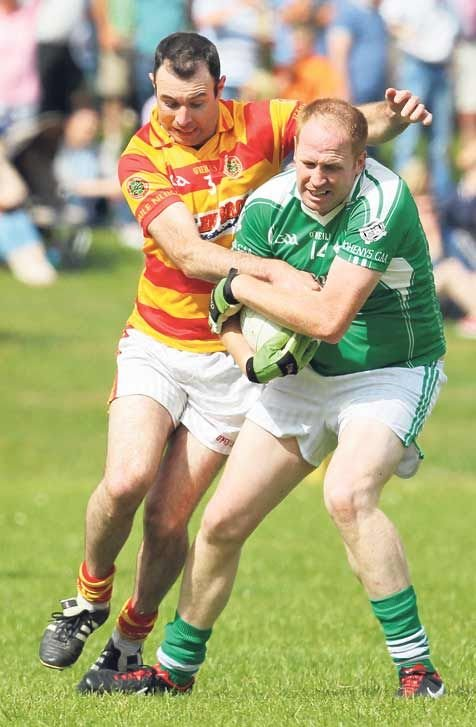 Target man: Dohenys Daniel ODonovan, pictured in action against Newcestown last season, is a key man in the Dunmanway clubs attack.