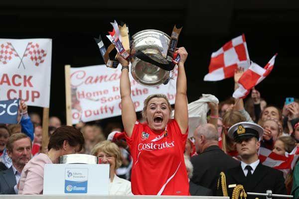 Anna Geary captained Cork to All-Ireland camogie glory last season.