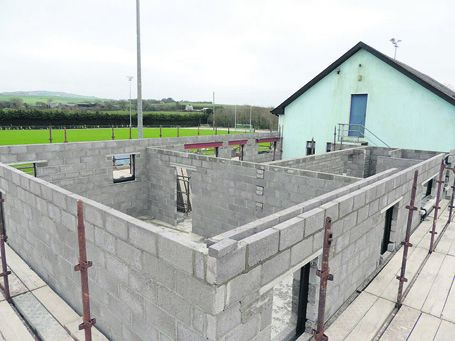 Taking shape: Castlehaven GAA grounds redevelopment will include the construction of two new dressing-rooms and a gym.
