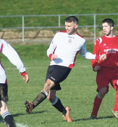 Confident: Bandon striker Richard Holland believes the West Cork club will get the result they need to guarantee their return to the MSL Premier Division this Saturday.